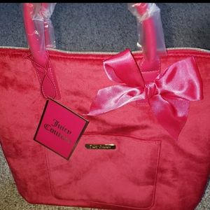 Juicy Couture hot pink velvet bag tote or s